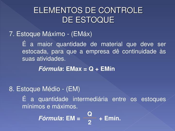 ELEMENTOS DE CONTROLE