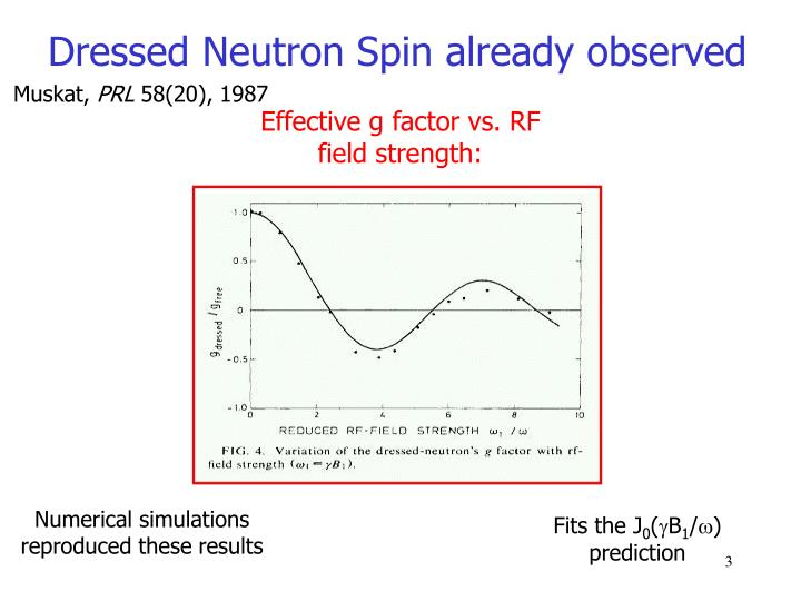 Effective g factor vs. RF field strength: