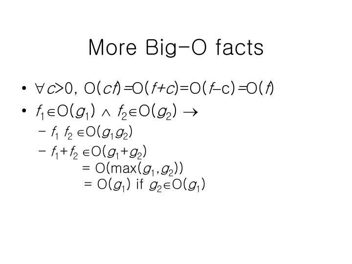 More Big-O facts
