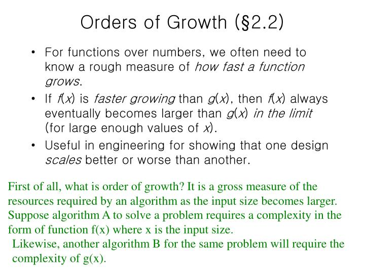 Orders of Growth (§2.2)