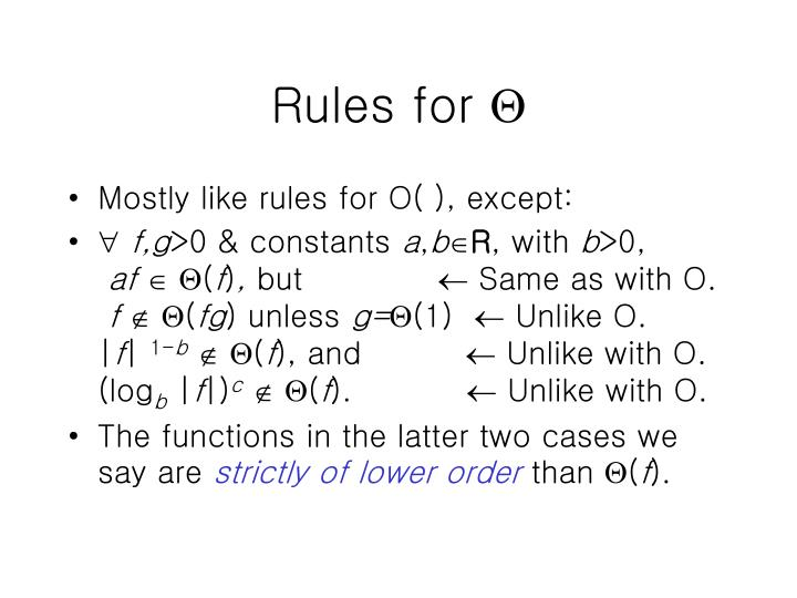 Rules for