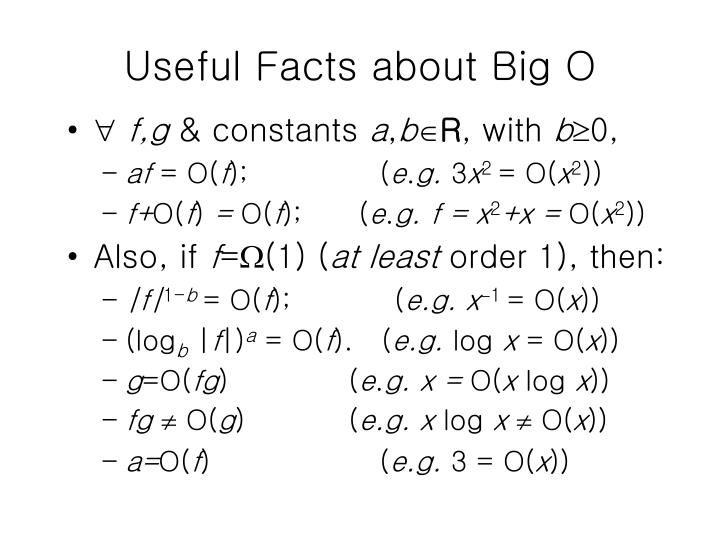 Useful Facts about Big O