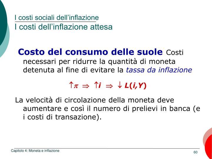I costi sociali dell'inflazione