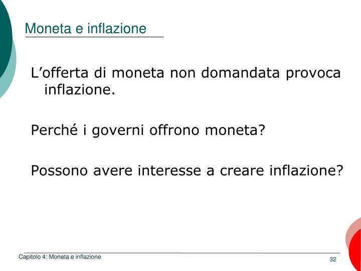 Moneta e inflazione