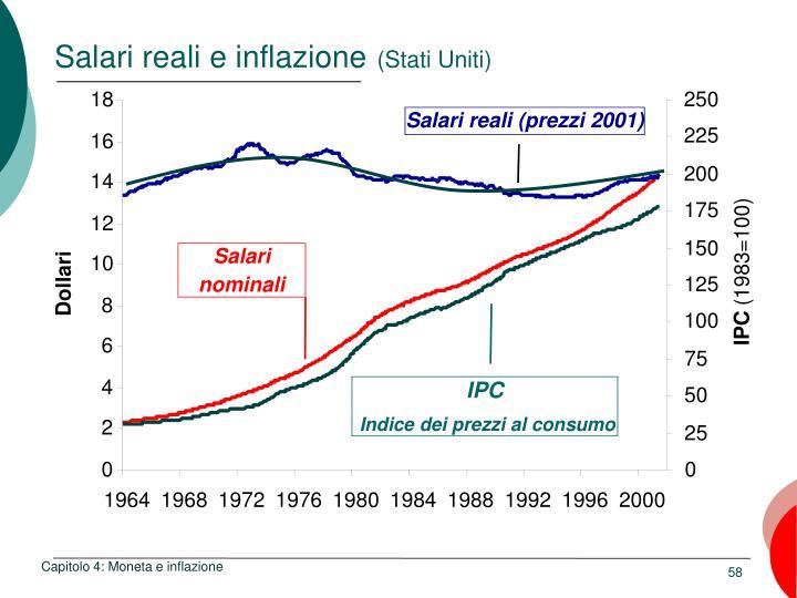 Salari reali e inflazione
