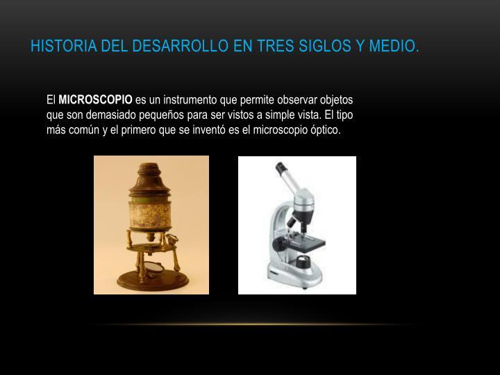 Historia del Desarrollo EN TRES SIGLOS Y MEDIO.
