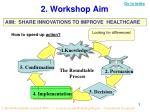 2 workshop aim