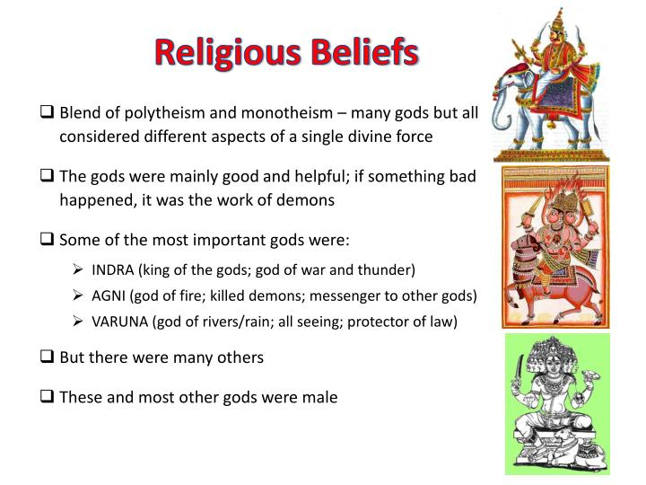 Blend of polytheism and monotheism – many gods but all considered different aspects of a single divine force