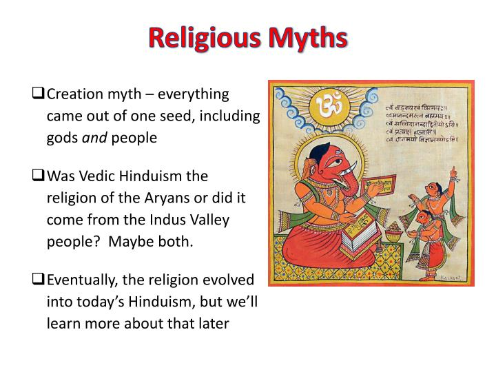 Creation myth – everything came out of one seed, including gods
