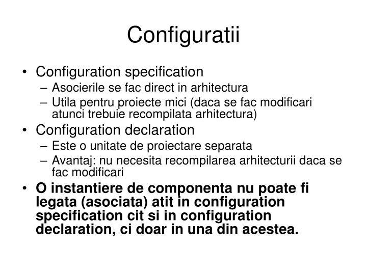 Configuratii
