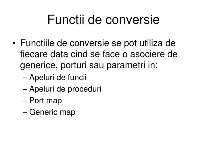 Functii de conversie