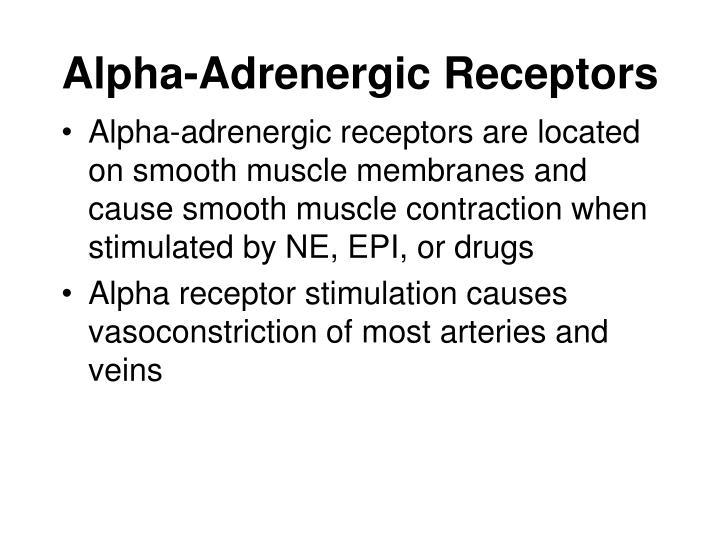 Alpha-Adrenergic Receptors