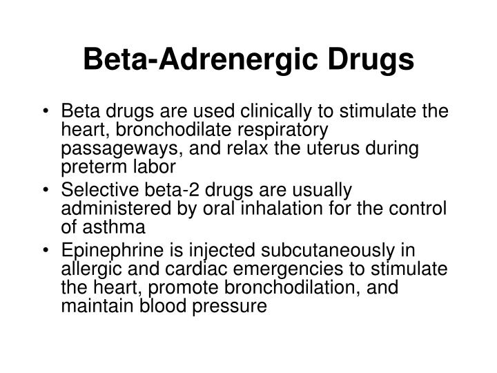 Beta-Adrenergic Drugs