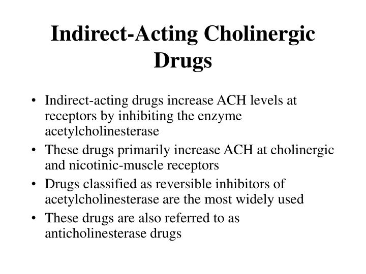 Indirect-Acting Cholinergic Drugs