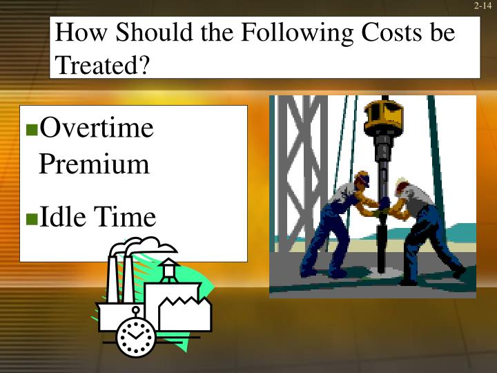 How Should the Following Costs be Treated?