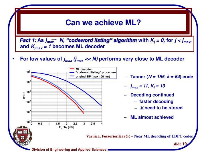 ML decoder