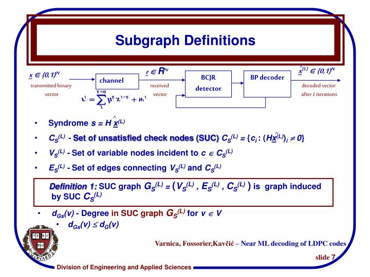 Subgraph Definitions
