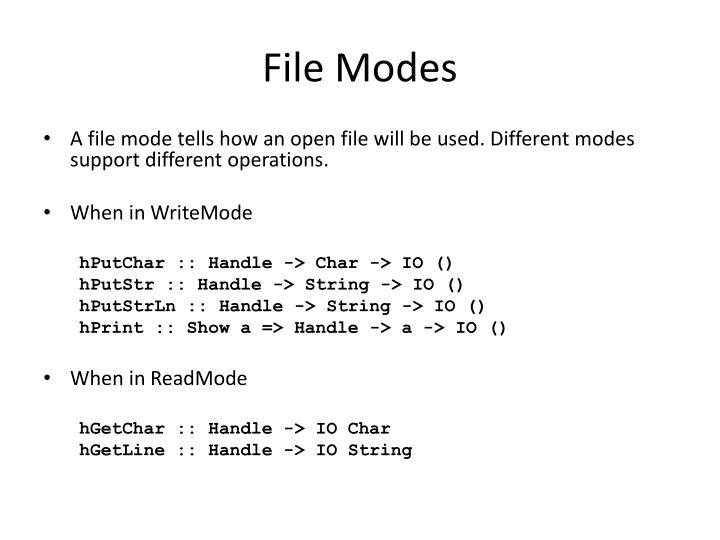 File Modes