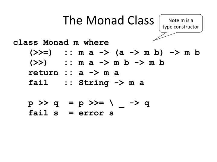 The Monad Class