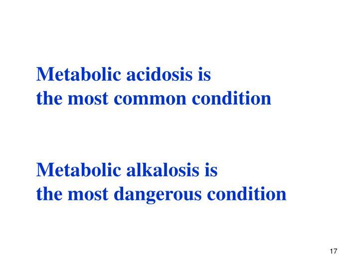 Metabolic acidosis is