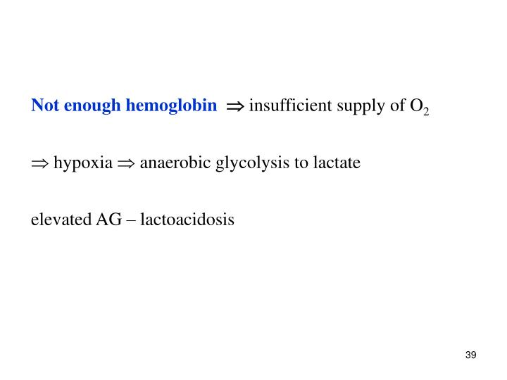 Not enough hemoglobin