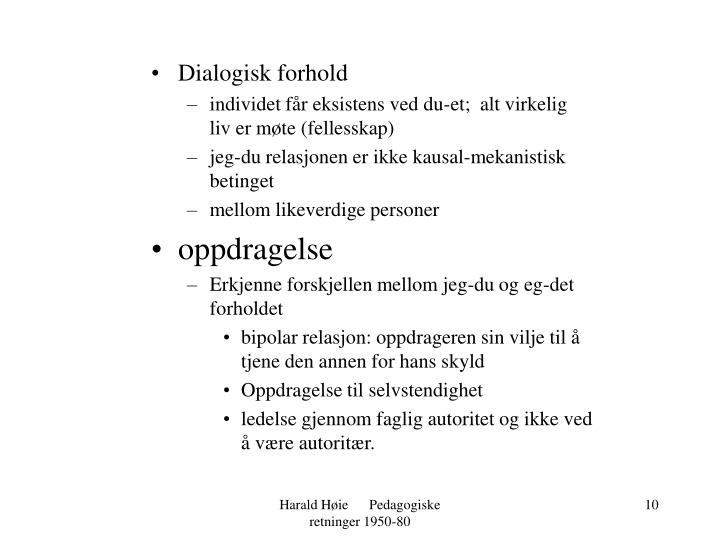 Dialogisk forhold