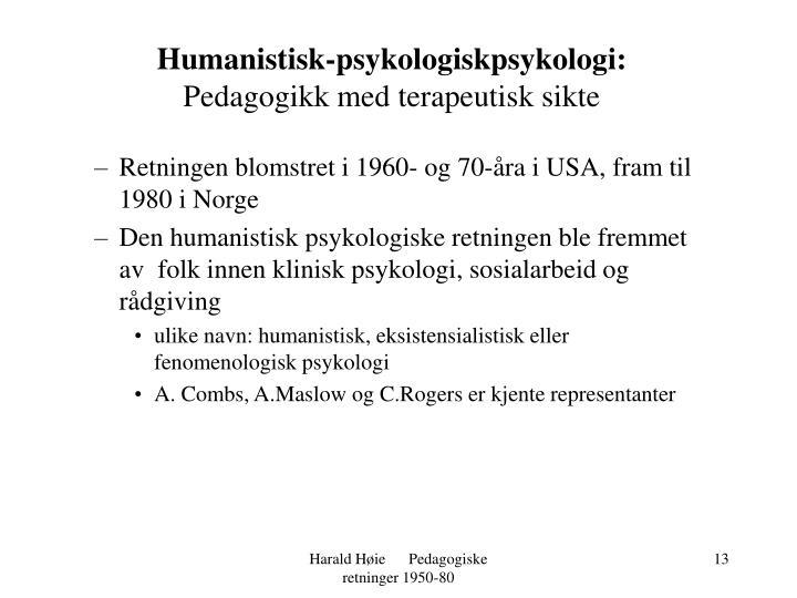 Humanistisk-psykologiskpsykologi: