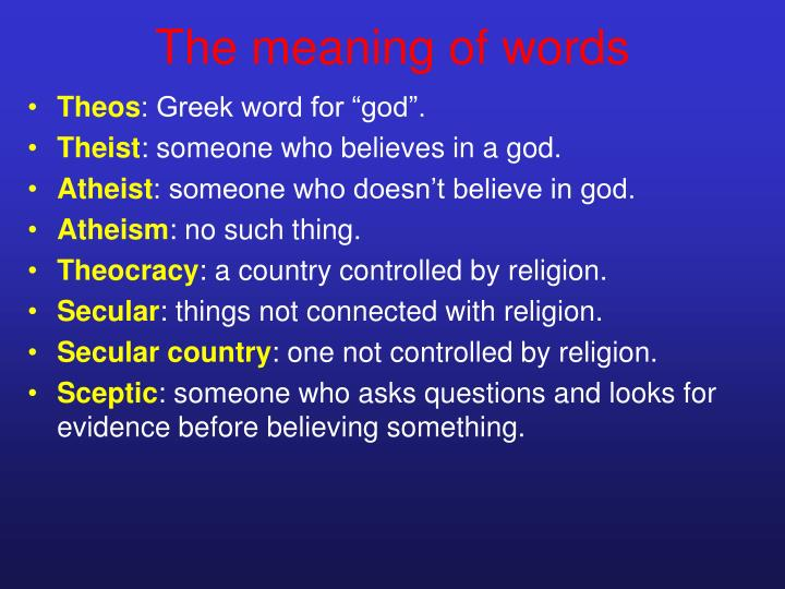 The meaning of words