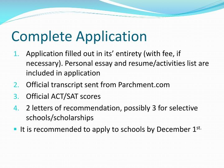 Complete Application