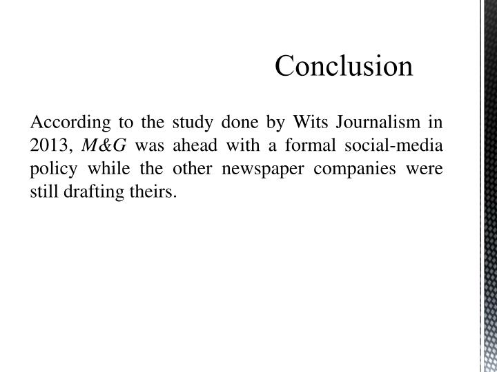 According to the study done by Wits Journalism in 2013,