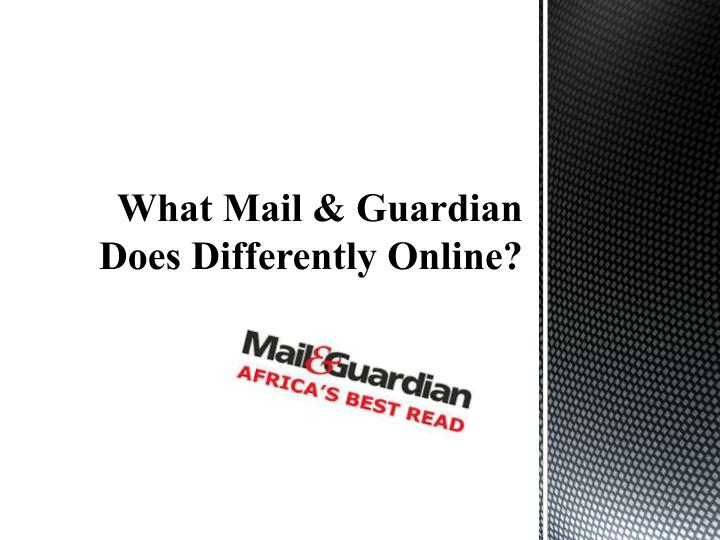 What mail guardian does differently online
