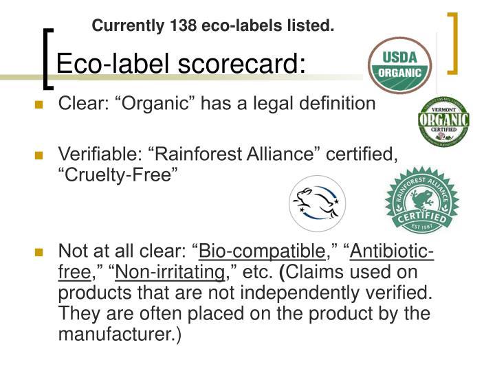 Eco-label scorecard: