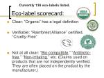 eco label scorecard