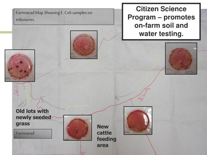 Citizen Science Program – promotes on-farm soil and water testing.