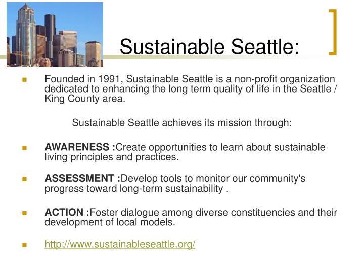 Sustainable Seattle: