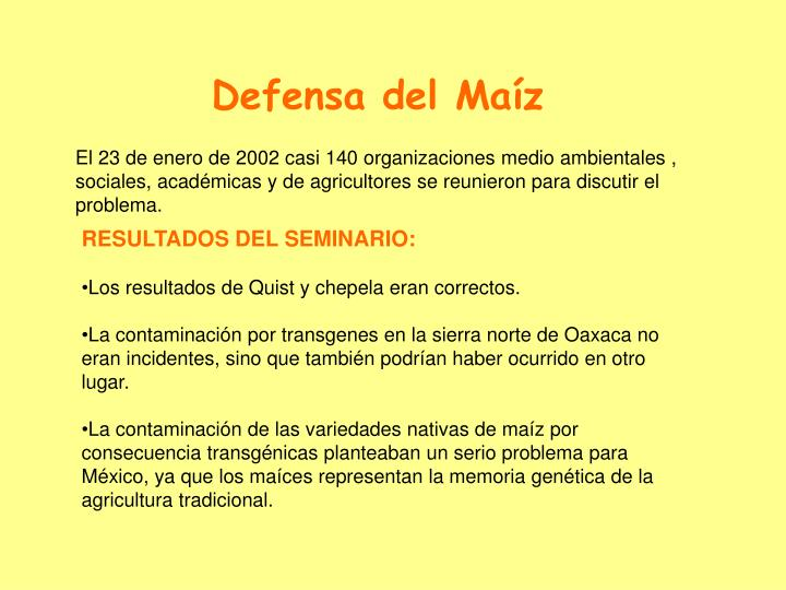 Defensa del Maíz