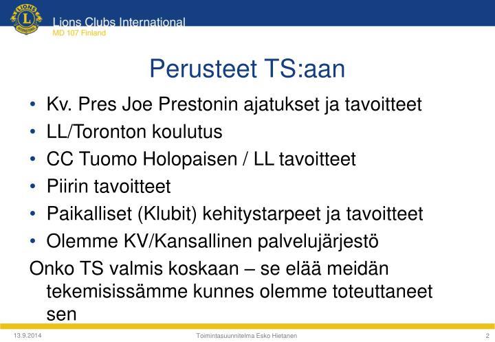 Perusteet TS:aan