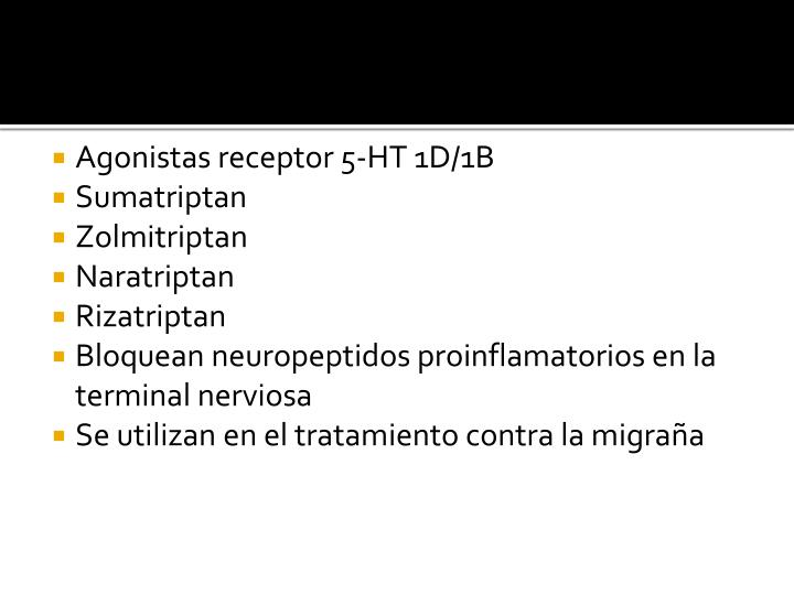 Agonistas receptor 5-HT 1D/1B