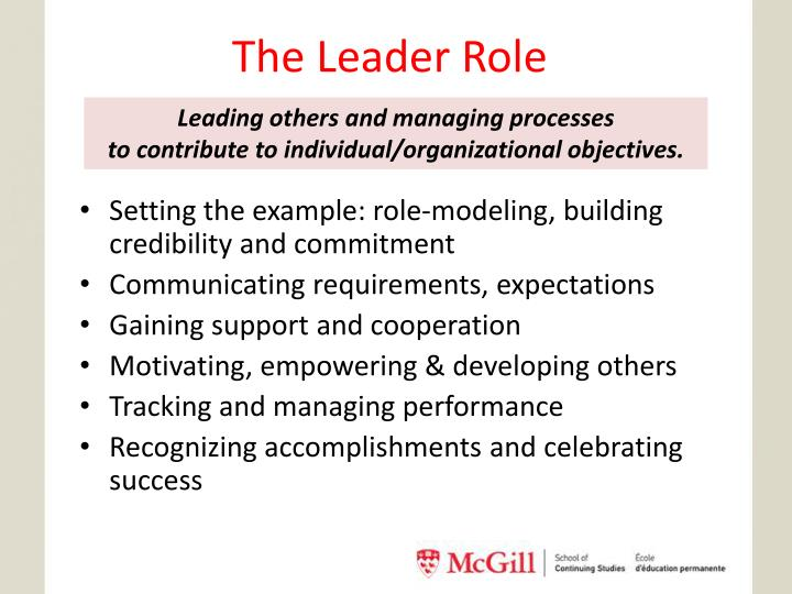 The Leader Role