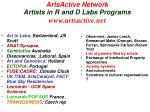 artsactive network artists in r and d labs programs www artsactive net
