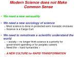 modern science does not make common sense