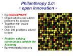 philanthropy 2 0 open innovation
