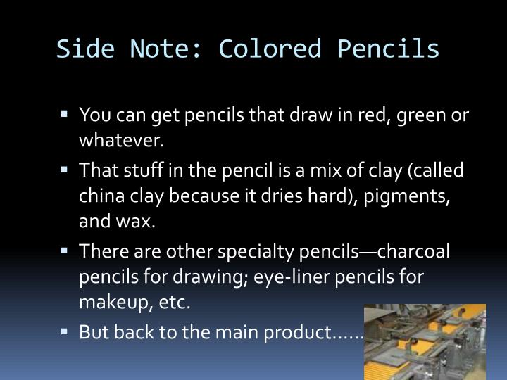 Side Note: Colored Pencils