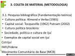 3 coleta de material metodologia