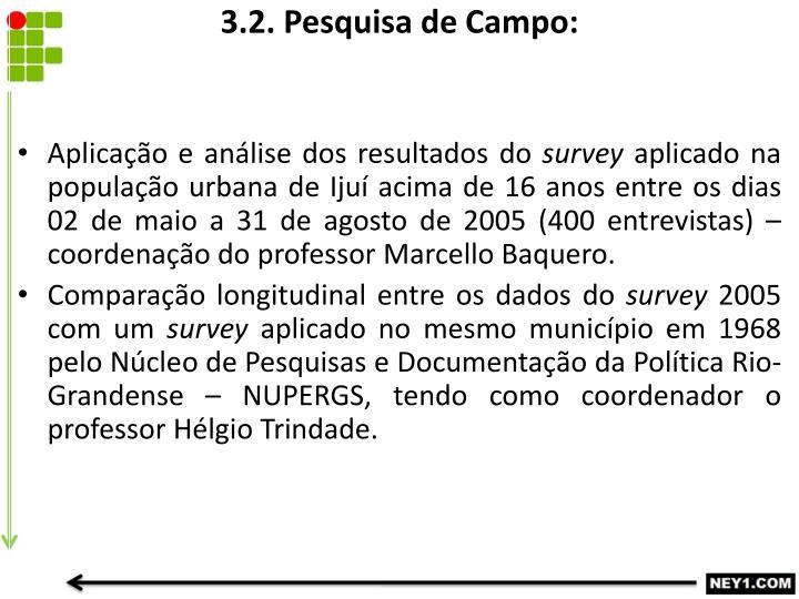 3.2. Pesquisa de Campo: