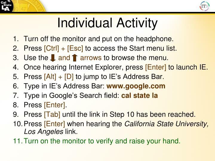 Individual Activity