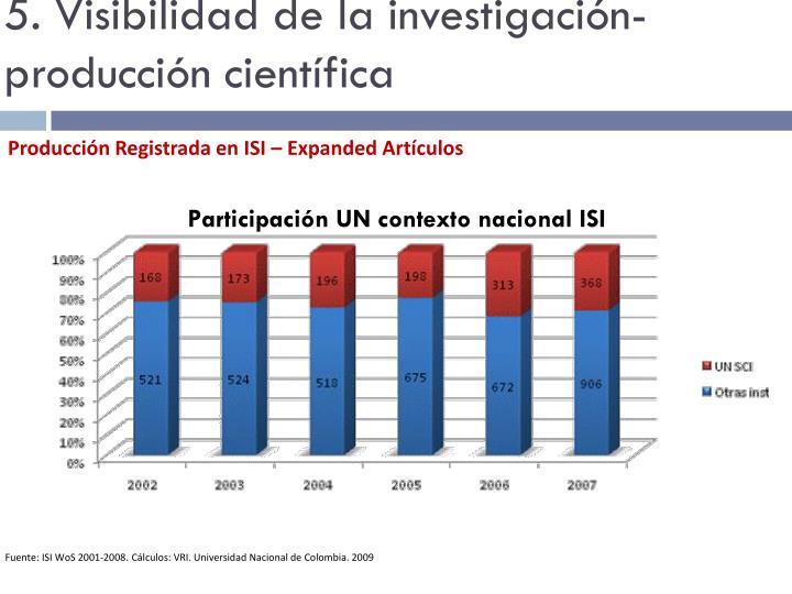 5. Visibilidad de la investigación- producción científica