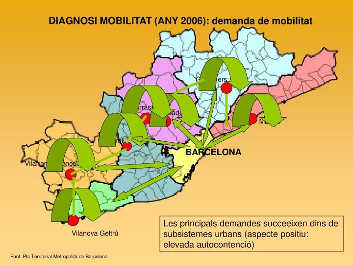 DIAGNOSI MOBILITAT (ANY 2006): demanda de mobilitat