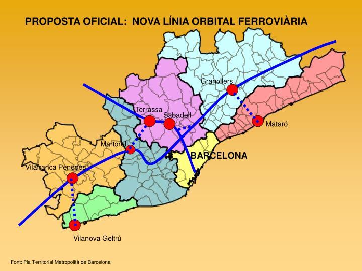 PROPOSTA OFICIAL:  NOVA LÍNIA ORBITAL FERROVIÀRIA