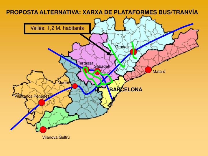 PROPOSTA ALTERNATIVA: XARXA DE PLATAFORMES BUS/TRANVÍA
